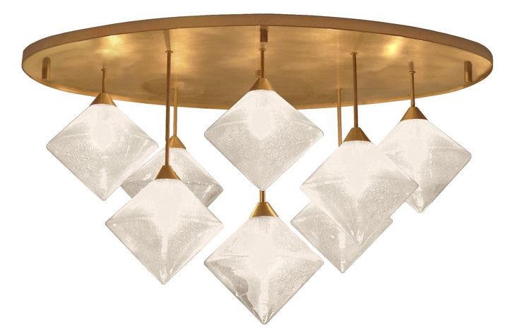 Buy Glass Diamond Chandelier by Craig Van Den Brulle - Made-to-Order designer Chandeliers from Dering Hall's collection of Mid-Century / Modern Lighting.