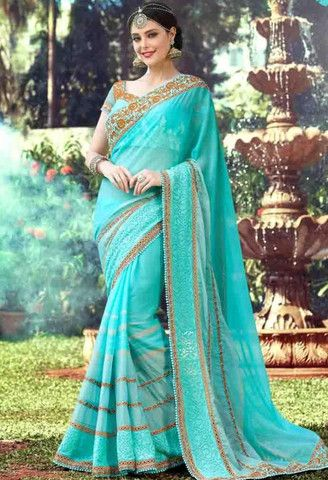 Blue Georgette Designer Saree..@ fashionsbyindia.com #designs #indian #fashion #womens #style #cloths #clothes #stylish #casual #fashionsbyindia #punjabi #suits #wedding #saree #chic #elegance #beauty #outfits #fantasy #embroidered #dress #PakistaniFashion #Fashion #Longsuit #FloralEmbroidery #Fashionista #Fashion2015 #IndianWear #WeddingWear #Bridesmaid #BridalWear #PartyWear #Occasion #OnlineShopping #sari