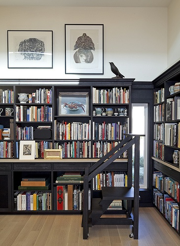 17 best images about home libraries on pinterest for Private library design