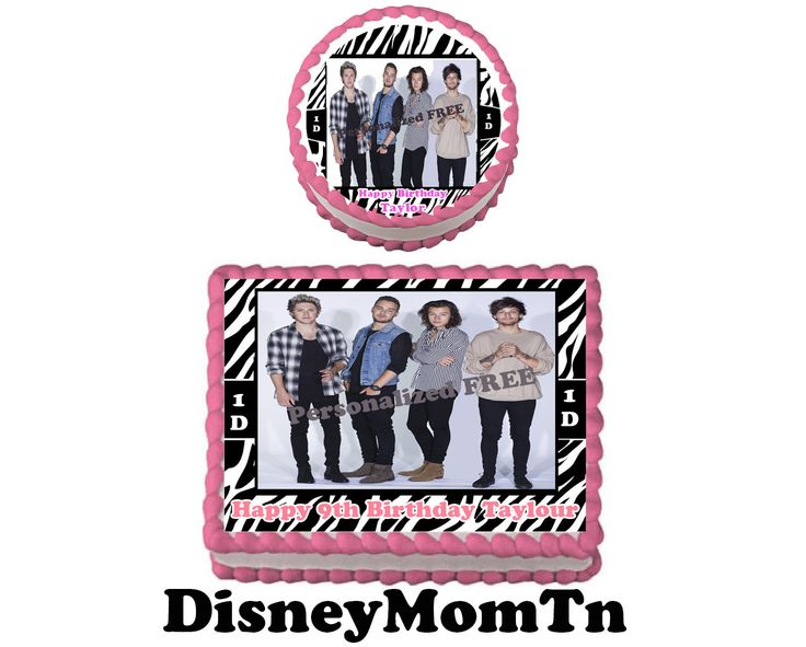 ONE DIRECTION  Birthday Party Edible Cake Topper Cupcake Personalized Custom Made by DisneyMomTn on Etsy