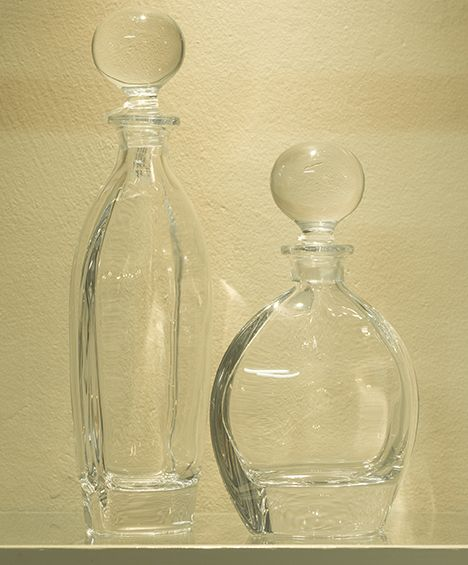 Chrystal decanters.