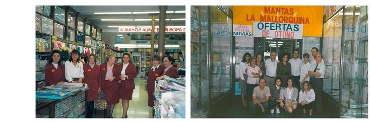 1980  EQUIP DE VENDES DE LA BOTIGA DE PLAÇA UNIVERSITAT ALS ANYS 80