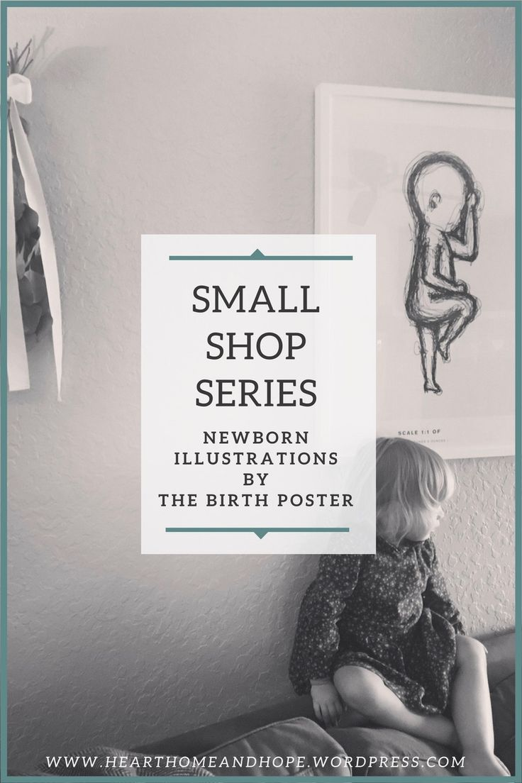 This Shop Small Series is all about supporting small businesses this holiday season (or really, anytime during the year)! The Birth Poster creates unique illustrations of your newborn and is a great gift! I am so excited to share this review of their amazing work! #shopsmall #smallbusiness #TheBirthPoster #holidaygifts