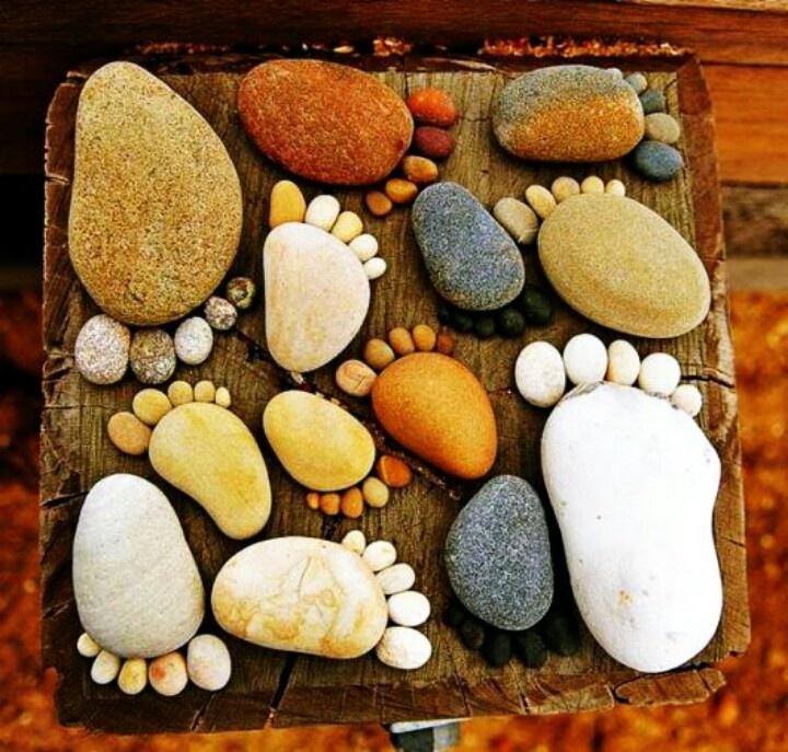 Feet made of stone