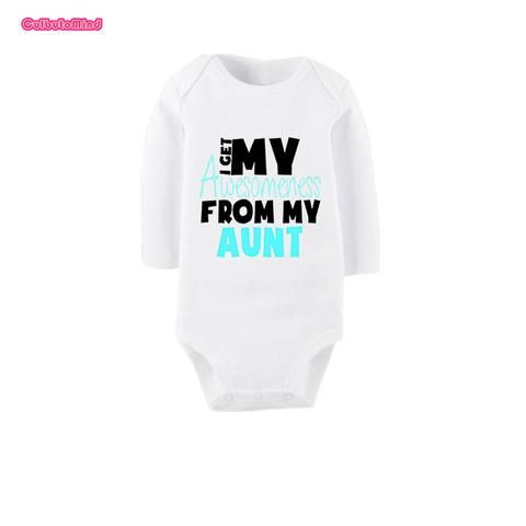 99f983f9ce78 Culbutomind I Get Awesome From My Aunt Cute White Long Sleeve ...