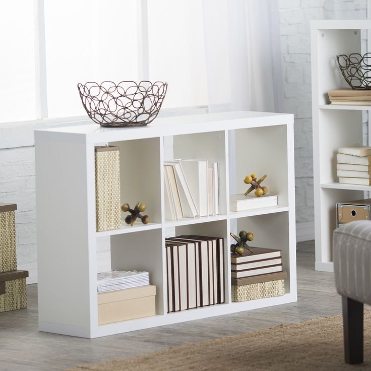 Hudson 6-Cube Bookcase - From the home office to the living area, the Hudson 6-Cube Bookcase solves all your storage and display needs. This contemporary bookcase features six...