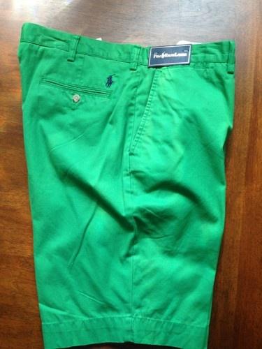 Polo Ralph Lauren G.I. Lightweight Mens Chino Shorts 36 NWT Green