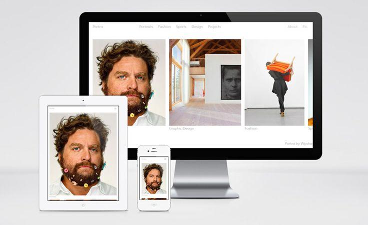 Portra: Free Responsive Portfolio WP Theme with Horizontal Layout