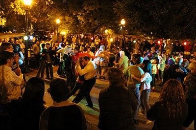 An outdoor milonga in Buenos Aires - inspiration for a scene in Slow Tango With a Prince