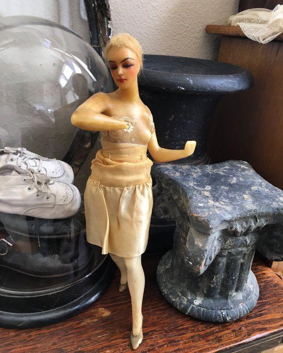 Antique Full Body Wax Doll