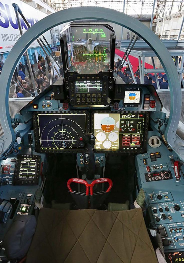 Su-35S Flanker-E Glass Cockpit - Russian Air Force