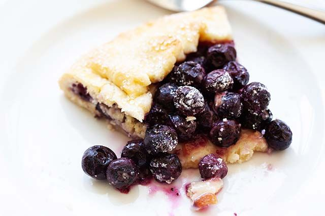 Blueberry Galette Open Faced Blueberry Pie Rasa Malaysia
