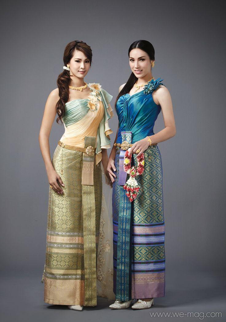 ชวนชม by รุ่งนภา   Traditional Thai Fashion   Thai dress ...