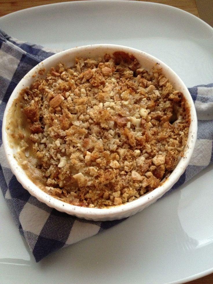 Gratin van koolrabi met crunchy cashewtop