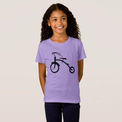 Girls Tricycle Bike Shirt  $22.05  by Bikealicious  - cyo diy customize personalize unique