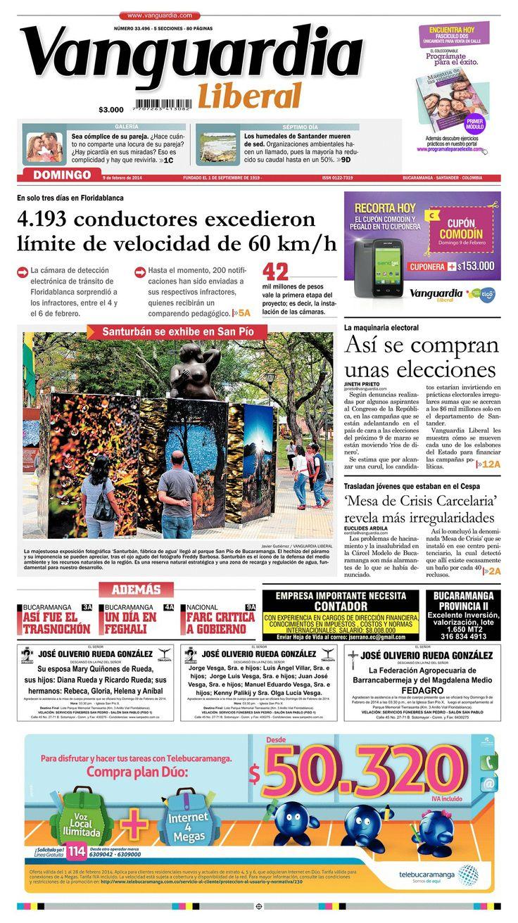 Esta es la portada de nuestra edición impresa del domingo 9 de febrero de 2014.