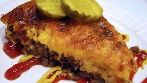 Cheeseburger Pie for soft textured high protein bariatric eating