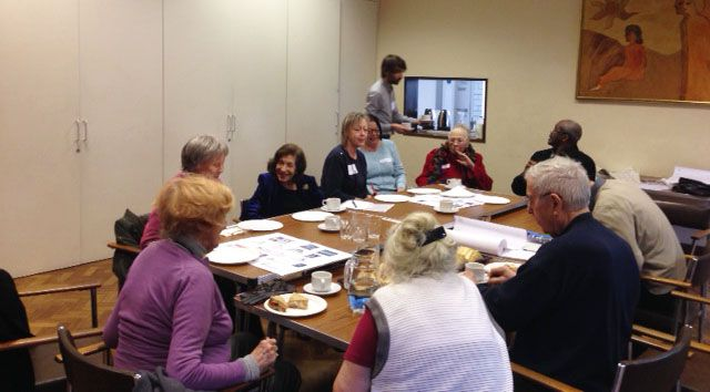 Photos taken at a workshop for the low income households campaign.  We have developed the Complain for Change campaign to help everyone understand how to complain about matters, such as child benefits, job seekers allowance or NHS treatment.