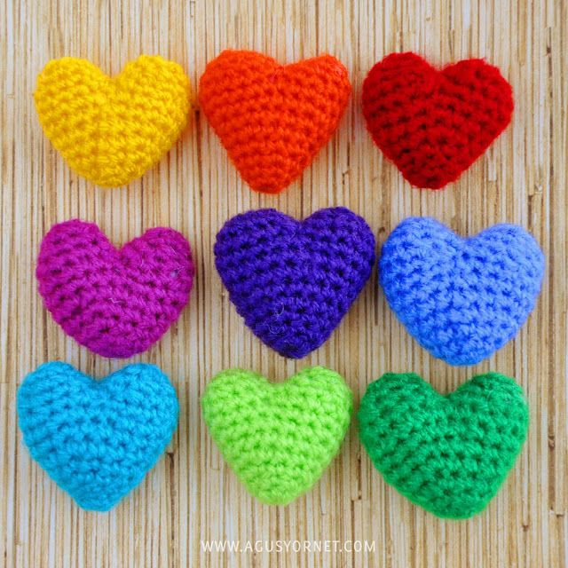 DIY: Crochet hearts