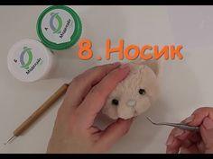 Стрижка мордочки енота. Подробный мастер-класс по оформлению игрушки Тедди - YouTube