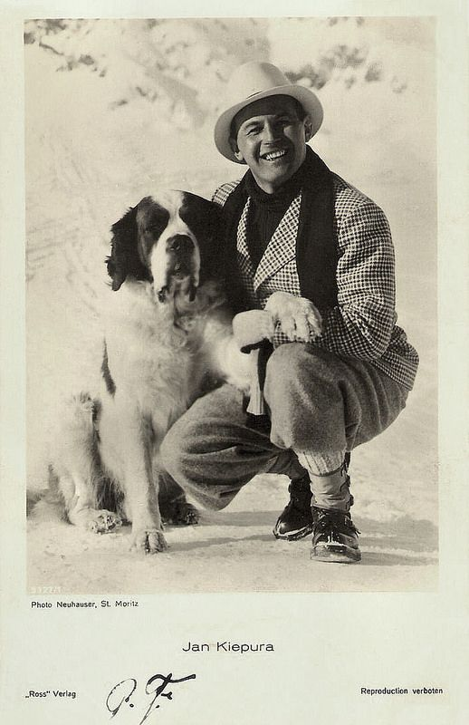 Jan Kiepura. German postcard by Ross Verlag, no. 9327/1, 1935-1936. Photo: Neuhauser, St. Moritz.