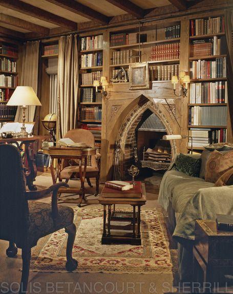 Traditional, Yet Cozy Library Portfolio.