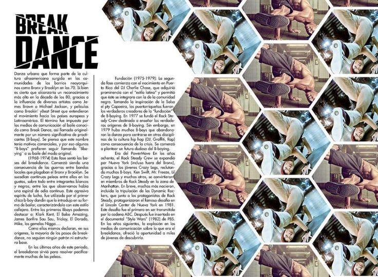 Interior de revista arabesca Break dance