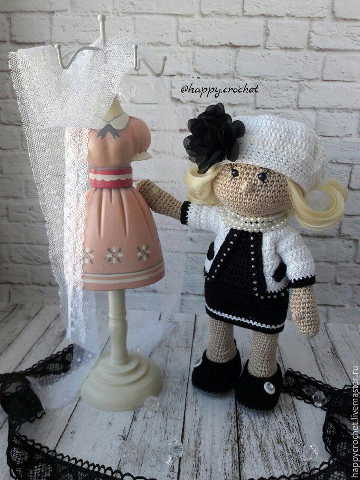 Купить Мисс Шанель - черный, кукла ручной работы, кукла, кукла в подарок, кукла интерьерная