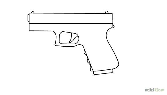 Gallery For gt Gun Outline