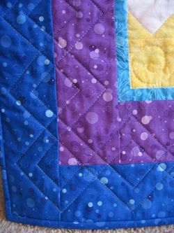 Idea for quilting across two borders