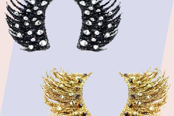 Cílios postiços com cristais Swarovski são a cara do Carnaval