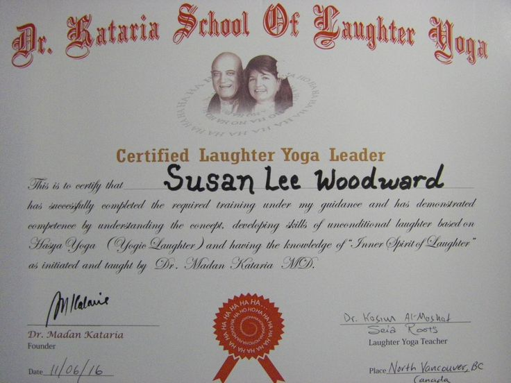 I am now a certified Laughter Yoga Leader! Stay tuned for Laughter Yoga Club information and where you too can experience the joy and fun of Laughter Yoga. Community, healing and, self-care.   Laugh for no reason at all.   Ho Ho Ha Ha Ha - Very Good, Very Good, Yay!