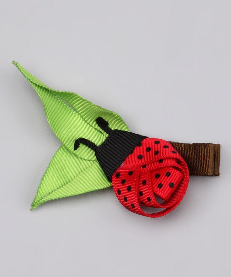 Lady bug hair clip