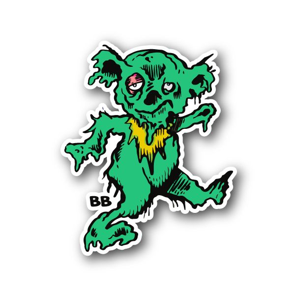 Scary glob bear vinyl sticker