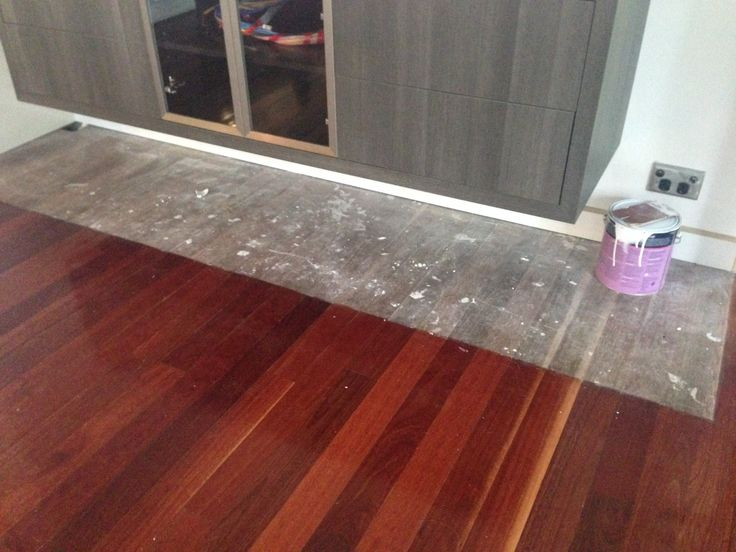 Surprise!  When they ripped out the old cabinetry - unsealed floorboards  :o  :(