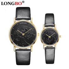 Top Brand LONGBO Fashion Rose Gold Watch Lovers Watches Waterproof Leather Quartz Watch Clock Unisex Hour relogio relojes montre(China (Mainland))