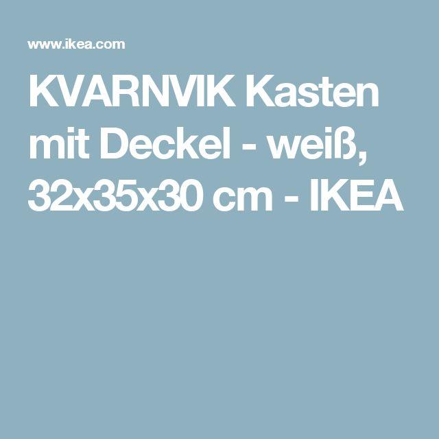 KVARNVIK Kasten mit Deckel - weiß, 32x35x30 cm - IKEA
