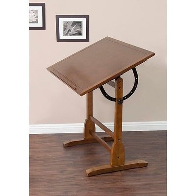 Studio Designs Rustic Oak Vintage Drafting Table   Overstock Shopping   The  Best Prices On Studio Designs Drafting Tables