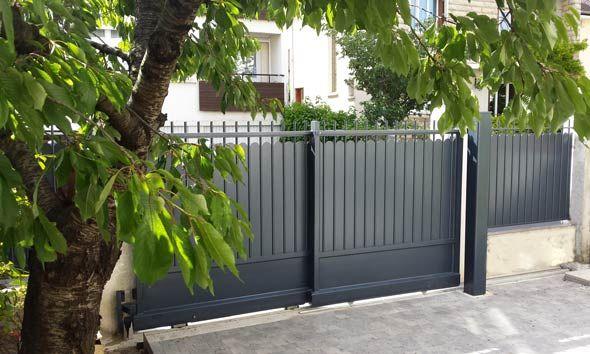 17 best images about portail coulissant 2 vantaux on pinterest. Black Bedroom Furniture Sets. Home Design Ideas