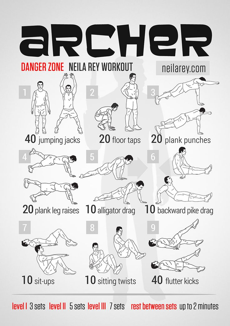 Archer Workout - totally gonna listen to some Kenny Loggins when doing this.