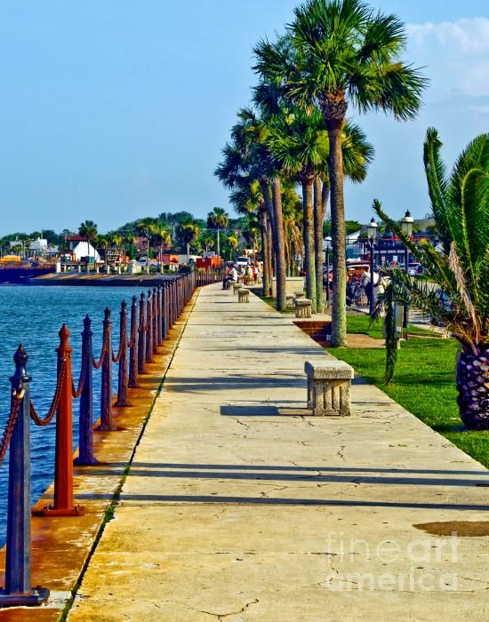 St. Augustine FL  loved it there. Reminded me of Panama City, Panama se would watch fireworks from here.