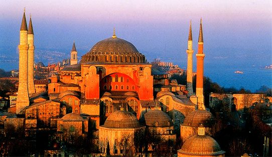 The Hagia Sophia in Istanbul.  First it was a church, then it was a mosque, and now it's a museum.