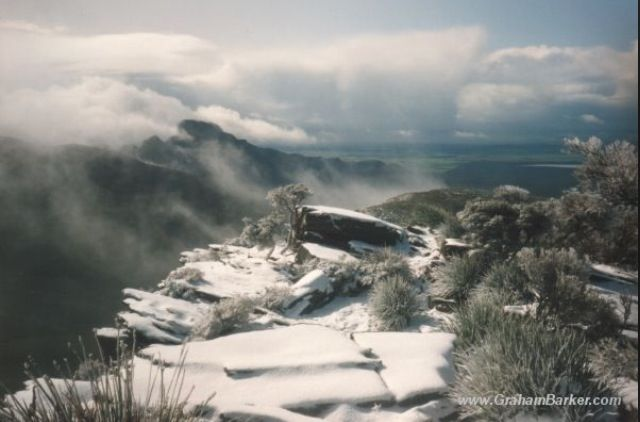 Snow on top of Bluff Knoll, Stirling Ranges, Western Australia
