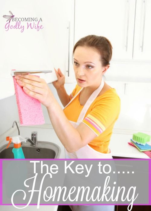 Did you know that there is a special key to make homemaking enjoyable?