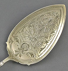 Whiting Arabesque sterling pie server engraved.