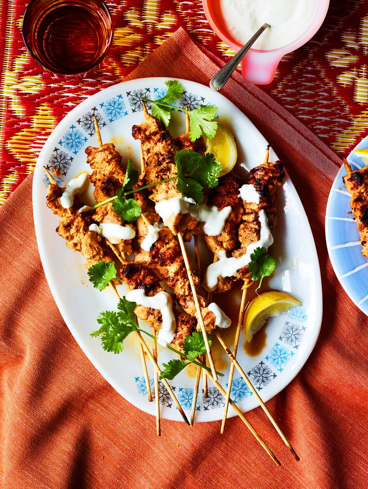 Peanut butter chicken skewers with ginger yoghurt - SBS African Recipe