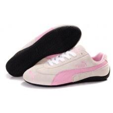 Men Puma Suede Men Milky White/Pink