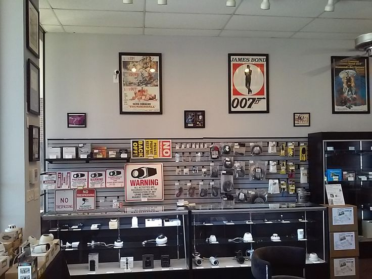 The surveillance camera section in our plano spy shop. We have do it yourself camera package options and we offer full installation as well for home or business.