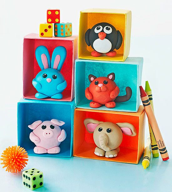 Kids will go wild to craft @FamilyFun magazine's colorful clay critters! Get step-by-step instructions to fill this whole zoo.