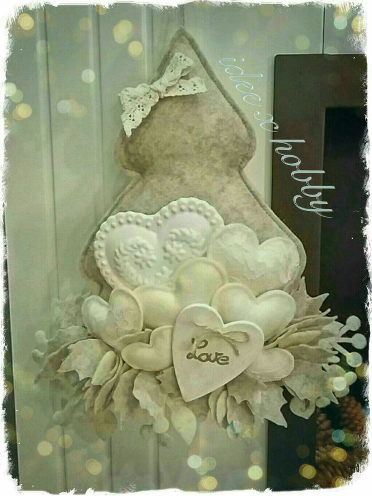 Albero feltro cuori handmade - idee x hobby